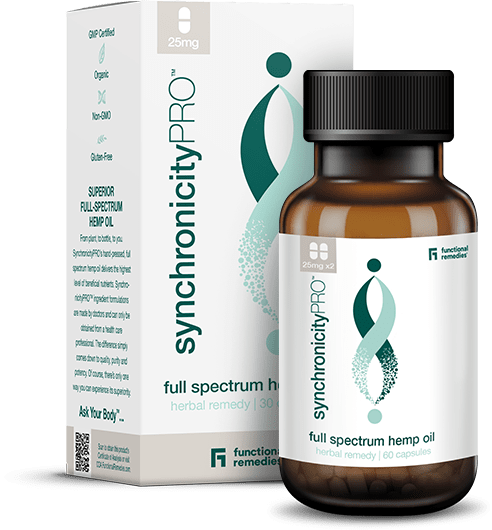 25mg SynchronicityPRO Full-Spectrum Hemp Oil Capsules