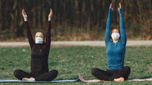 CBD for relaxation sure doesn't hurt when it comes to having to daily tasks in a mask. CBD for yoga, CBD for masks, CBD for you all at Synchronicity hemp oil