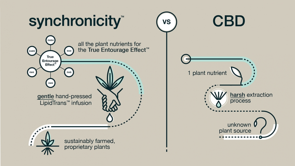 Synchronicity Hemp Oil is a bit different from its competition in its unique approach to growing and extraction through a process all its own. CBD oil has never been this pure, or ready to bring you the onset of Entourage effects CBD provides.