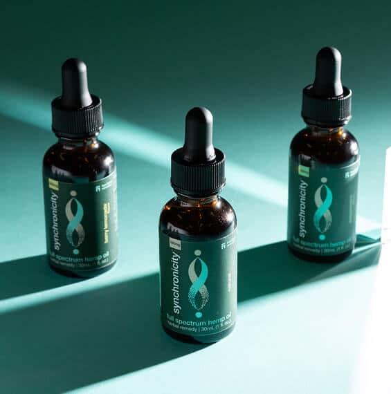 Full-Spectrum Hemp Oil Three Tincture Bottles – Synchronicity